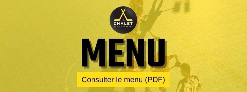 Menu du Chalet